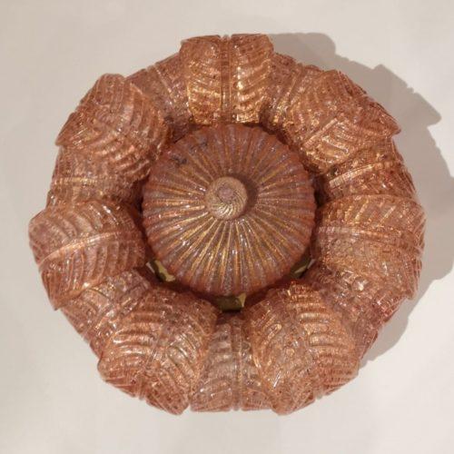 plafoniera rex murano oro rosa